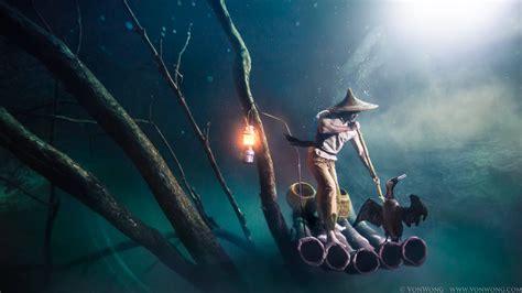 fairy boat blows up in mexico portrait of a cormorant fisherman 30m underwater von