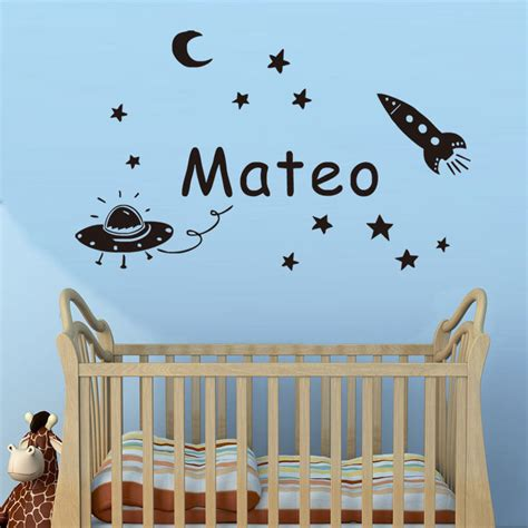 personalized wall stickers space planet wall sticker personalized name wall