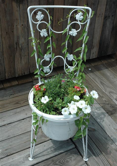 Chair Planter by Find Planters In The Garbage