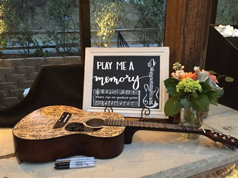 Wedding Chalkboard for guest book guitar   *my*chalkboard