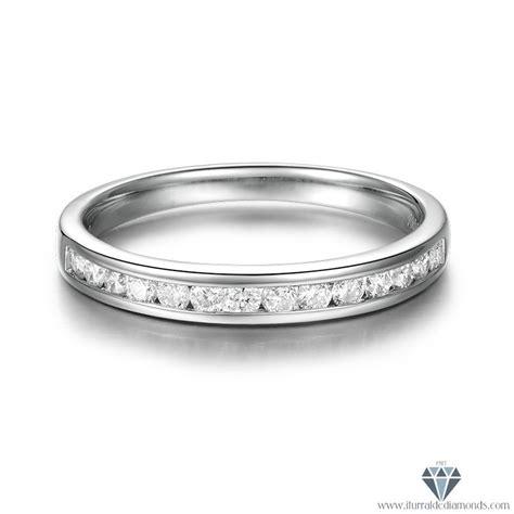 channel set vs diamonds 18k white gold wedding band