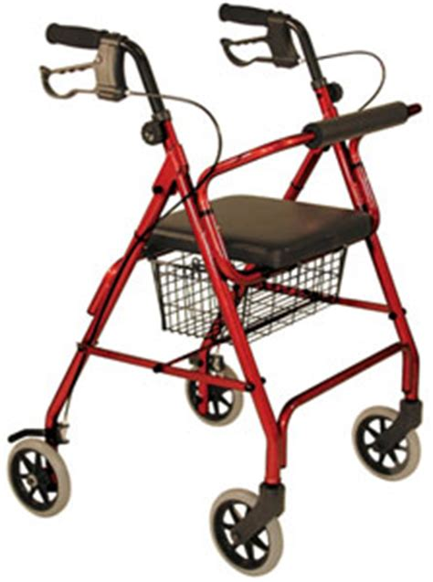 4 wheel walker with seat and basket 4 wheel aluminum cart ambulatory aids 4 wheeled walker w