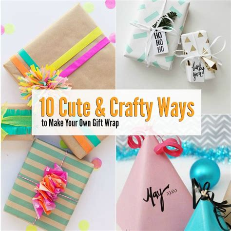 Make Your Own Custom Gift - 10 crafty ways to make your own gift wrap with