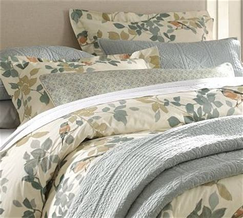 pottery barn king comforter sadie bird organic cotton duvet cover king cal king