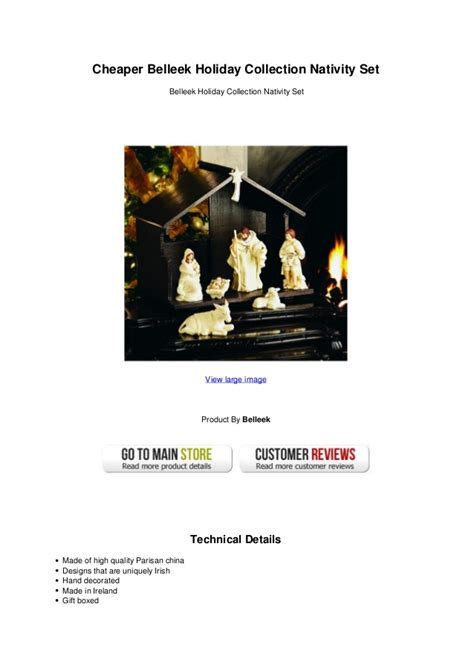 Cheaper belleek holiday collection nativity set
