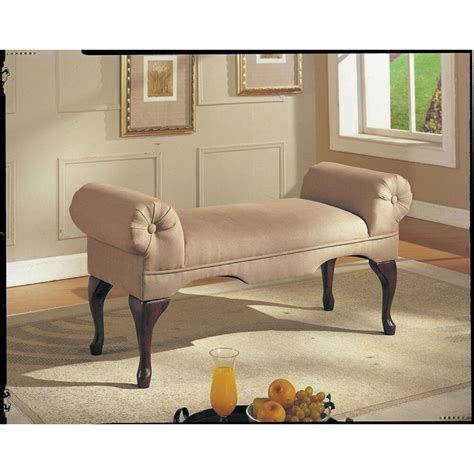 Living Room Benches - upholstered bench seat bed room living foyer way