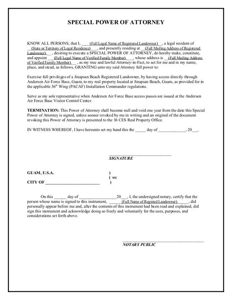 Jinapsan Power Of Attorney Template Poa Letter Template