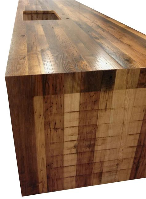 diy wood waterfall countertop waterfall butcher block counter tops with stainless steel
