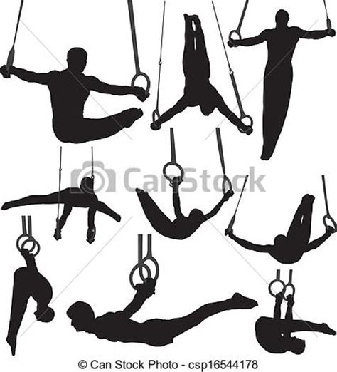 clipart ginnastica illustrations vectoris 233 es de gymnastique silhouettes