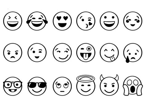 printable pages of emojis free printable emoji coloring pages