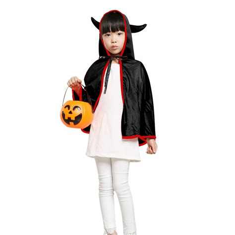 Nmod Ys Kid Jaket Mouse unisex cloak with ox horn play sales black tomtop