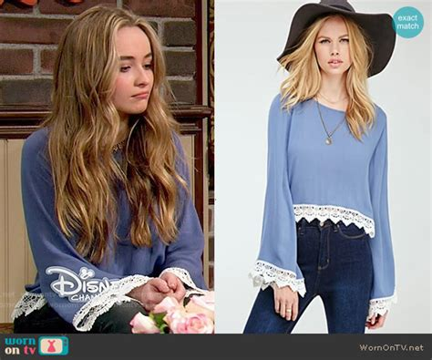 Dress Sabrina Lace Tile 1 wornontv s blue crochet trim blouse on meets