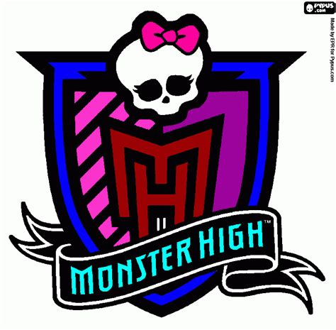 monster high symbol coloring pages nefera de nile monster high logo coloring pages nefera
