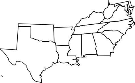 Southeastern United States Outline Map by Blank Map South Usa