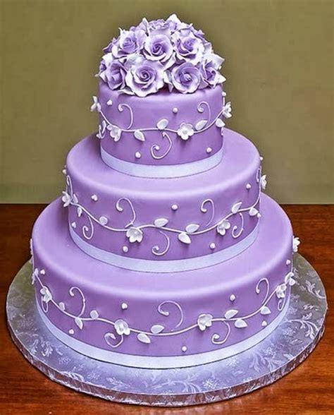 Hochzeitstorte Lavendel by Beautiful Bridal Purple And White Wedding Cakes