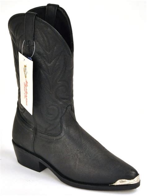 masterson boot co black leather western work boots new ebay