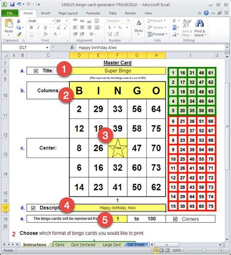 how to make bingo cards in excel how to generate bingo cards bingo card generator