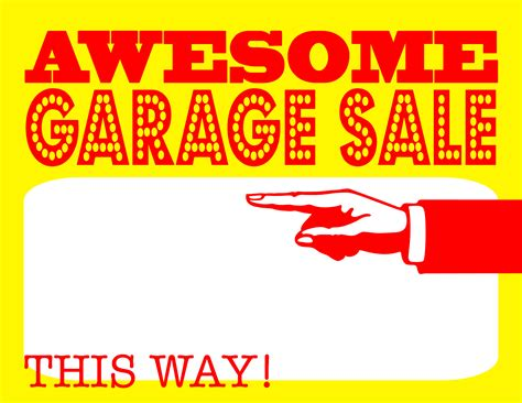 garage sale sign template diy printable awesome garage sale signs