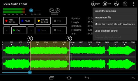 format file audio android export a part of a file android lexis audio editor