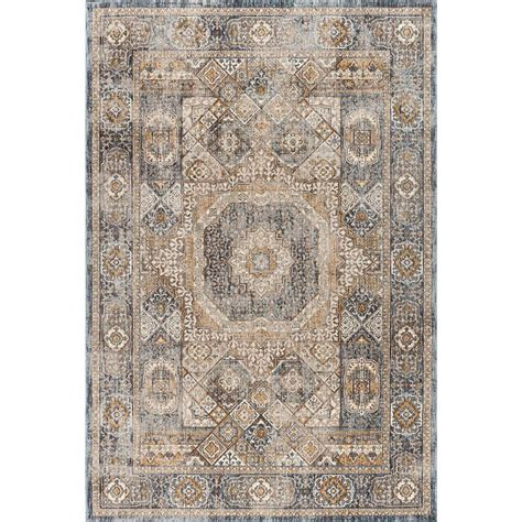 Tayse Rugs Fairview Navy 6 Ft 7 In X 9 Ft 6 In Area Rugs 6 Ft