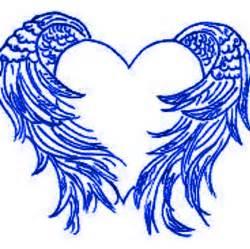 angel wings heart clip art 25