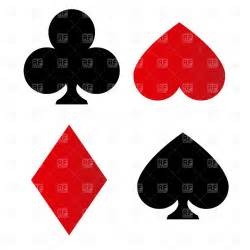 Playing card suit symbols 1159 download royalty free vector clipart