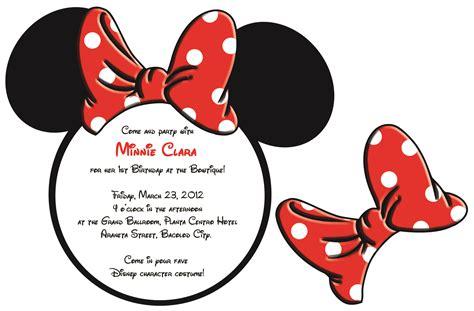 minnie mouse invitation sle invitation templates