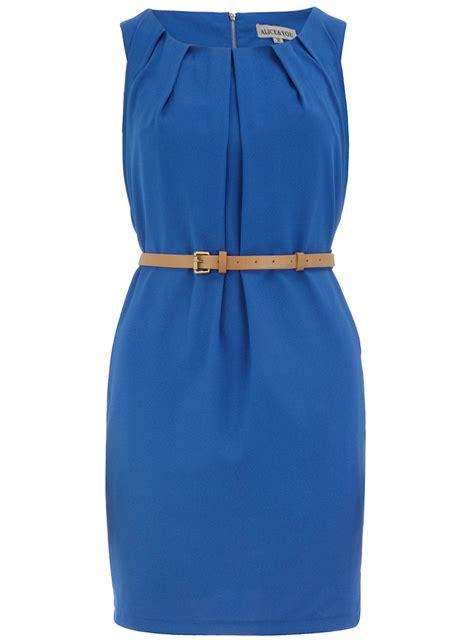 cobalt blue pleated belt dress dorothy perkins