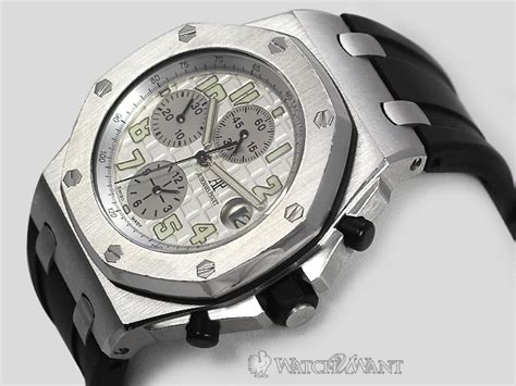Audemars Piguet Roo Silver White sold listing audemars piguet ap royal oak offshore chronograph silver white themes