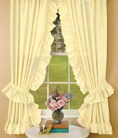 Cotton Tie Top Curtains Priscella Country Curtains Curtains Amp Blinds