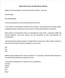 Email Cover Letter Templates by Free Cover Letter Template 11 Free Word Pdf Documents