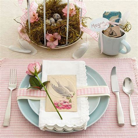 spring table settings ideas easy easter centerpieces and table settings
