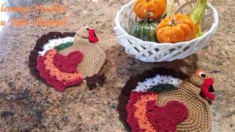 dish towel potholder tutorial youtube crochet turkey hotpad potholder and kitchen towel topper