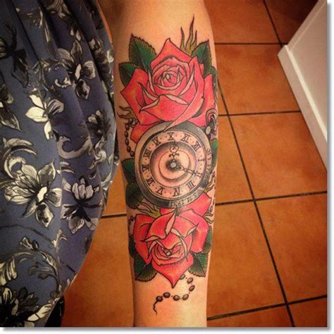 watch and rose tattoo 110 cool pocket tattoos that are totally badass