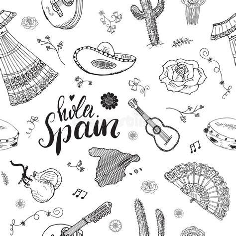 draw a pattern en español spain seamless pattern doodle elements hand drawn sketch