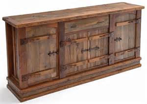Credenza With Hutch Western Furniture Barn Wood Sideboard Reclaimed Old Wood