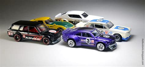 Japan 2 Historics Set 5pcs Hotwheels japan historics advan racing pack my custom wheels decals