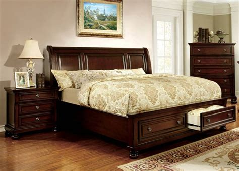 dark cherry wood bedroom furniture northville dark cherry solid wood 2pc bedroom set w queen