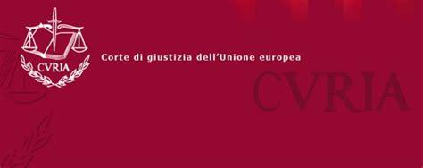 corte suprema europea corte di giustizia ue gli ordini di inibizione agli