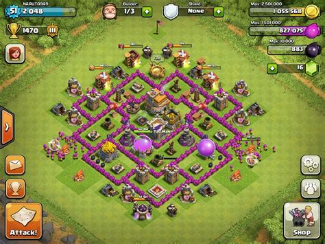 clash of clans layout strategy level 6 top clash of clans defense strategy town hall level 7
