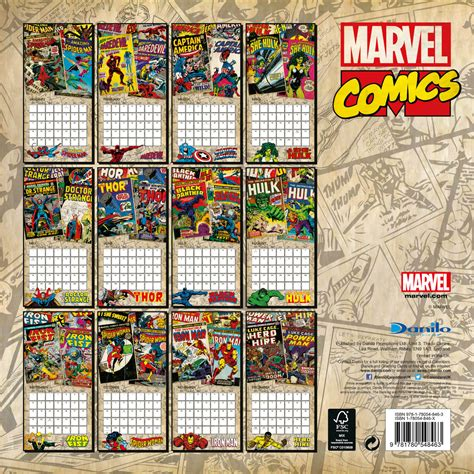 2018 of marvel wall calendar day marvel retro classics calendars 2018 on europosters