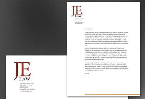 attorney business card template word firm letterhead free printable letterhead