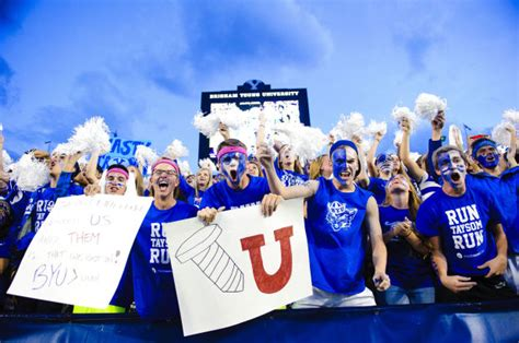 byu student section photos byu football s roc student section cougarblue com