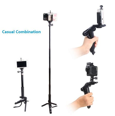 Murah Meriah Tripod Portable Mini Folding 2 In 1 Genggam Dslr paket 2 in 1 portable mini folding tripod for dslr universal cl sc xl jumbo black