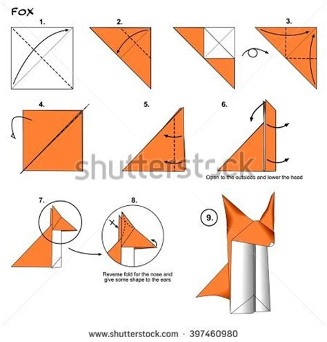 How To Make A Origami Cheetah Step By Step - how make paper hat tutorial stock vector