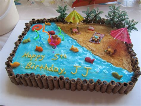 beach themed birthday cakes beach cake i think i ll do something like this for