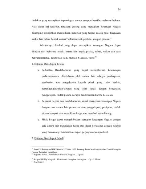 Tindak Pidana Korupsi Kajian Terhadap Harmonisasi Antara Hukum Nasiona konsekuensi yuridis terhadap timbulnya kerugian keuangan negara dalam