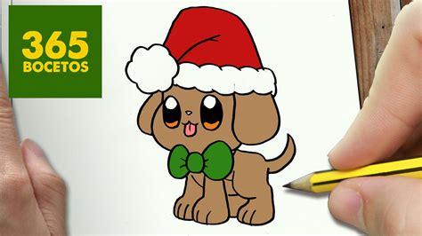 imágenes kawaii de navidad como dibujar un perrito para navidad paso a paso dibujos