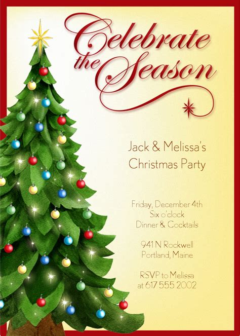 Christmas Party Invitation Templates Free Word Cimvitation Word Invitation Templates Free