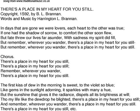 There Is A Place Song Lyrics Time Song Lyrics For 40 There S A Place In My For You Still